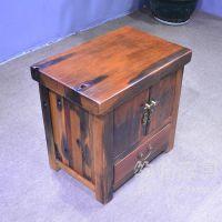 船木家具实木床头小柜子客厅卧室矮边角柜简约迷你简易收纳储物柜