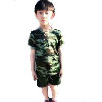 儿童速干迷彩 作训服夏令营军训服小孩户外T恤户外拓展训练服批发