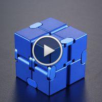 美国infinity cube无限魔方减压神器铝合金方块口袋手指解压玩具