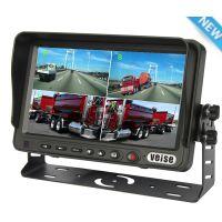 维视7寸4画面分割显示器 车载摄像头 渣土车倒车高科技影像系统