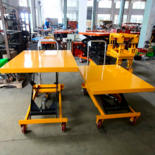 北京可升降手推车厂家 手动平台车 辊筒式模具运输车