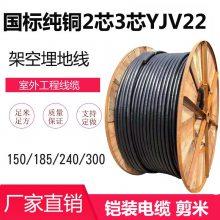 深圳金环宇电线电缆二芯三芯150/185平方240/300国标YJV22铠装电缆