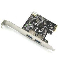 PCI-E转USB3.0扩展卡 2口USB高速转接卡 台式机电脑USB 3.0扩展器