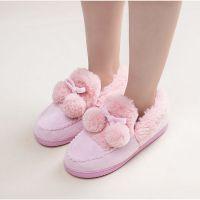 新款棉拖鞋女包跟可爱球球月子鞋秋冬季保暖情侣家居拖鞋厂家批发