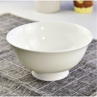 唐山瓷亿美陶瓷餐具 纯白骨瓷家用米饭碗高脚面碗礼品沙拉碗 厂家批发定制