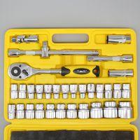 套筒棘轮扳手组合工具32件套装 汽车维修重型公制组合套筒扳手