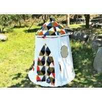 现货供应全棉格子蒙古包 儿童玩具帐篷 宝宝室内外亲子互动游戏