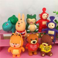 日本卡通系列~比卡兽 加菲猫 棕熊立体造型钥匙扣 包包挂饰 多款