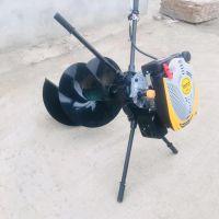 自走式植树挖坑机 启航电线杆钻孔机 汽油9马力挖坑机型号