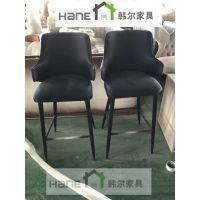上海酒店餐厅桌椅 软包吧桌椅定制 韩尔现代实木品牌