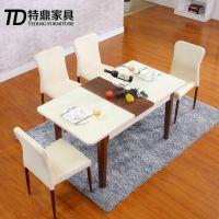 高档烤漆伸缩餐桌 多功能折叠餐桌 北欧风格餐桌 时尚餐桌椅组合