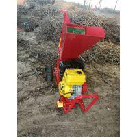 校园树枝树叶粉碎机 带轮子可移动破碎机 木材报纸粉碎机