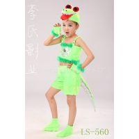 六一儿童动物表演服 小鳄鱼演出服 男女童小鳄鱼卡通舞蹈服夏