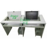 科桌供应翻转电脑桌 双人边框翻转电脑桌 学校学生翻转电脑桌