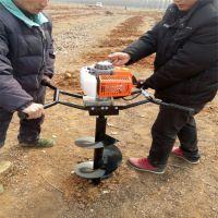 葡萄种植埋桩挖穴机 四冲7.5马力打洞挖坑机