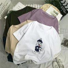 大量低价女T恤批发 纯棉时尚圆领女装韩版时尚T恤批发