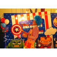 南宁时尚宝宝百日宴场地布置|小丑魔术表演|专业气球装饰公司-新百和气球