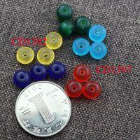 透明仿磨砂塑料珠子 DIY饰品配件仿 彩色亚克力米珠 散珠 串珠