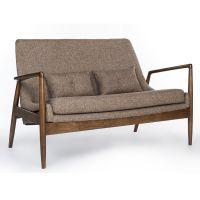 悦方美式轻奢布艺沙发简约现代小户型三人位沙发组装客厅实木家具