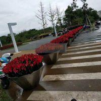 香港不锈钢大花盆定制_特攻户外绿化带304特大花盆花器
