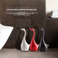 马桶刷浴室厕所刷子长柄去污陶瓷底座创意天鹅卫生间欧式清洁套装