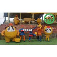 庆丰收水果造型稻草人工艺品生产厂家