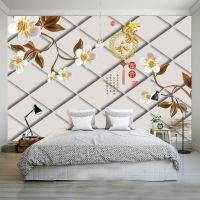 客厅大型壁画3d立体无缝电视背景墙纸壁画墙壁纸墙纸软包家和富贵