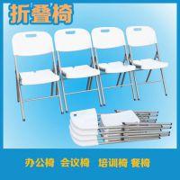 工厂直销塑料折叠靠背办公会议椅简约户外休闲椅家用餐桌椅子批发