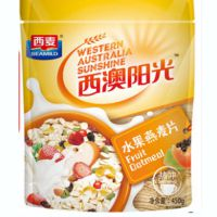 西麦水果燕麦片450g营养谷物麦片早餐即食燕麦冲饮袋装营养餐食品
