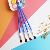 油画笔尼龙勾线笔 数字油画笔 搪胶娃娃彩绘画笔 石膏彩绘平头笔