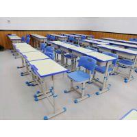供应深圳KZY注塑封边板单人位课桌椅(升降课桌椅)