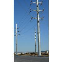 福州市益瑞钢杆厂家10kv双回路60度转角电力钢杆 单回路 输电钢杆 金属钢杆 打桩施工 基业