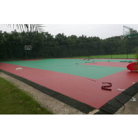 """重庆篮球场塑胶地板,""""鸿瑞铠""""牌HRK-77548型VC,厚度5mm"""