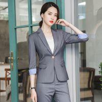 小西装职业套装女定制 2019新款韩版时尚正装气质修身工作西服外套厂家批发