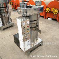 农村食品设备加工香油压榨机 液压芝麻榨油机 商用高产量榨油机