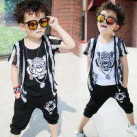 童装男童夏装2018新款套装儿童夏季童装中小童韩版短袖两件套潮衣
