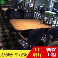 北欧ddl供应漫咖啡馆实木桌子 单人实木椅 西餐厅餐桌椅