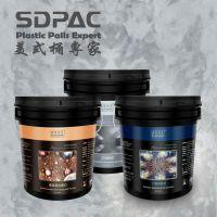 5KG美式涂料桶、艺术涂料专用包装桶(黑桶)、水瓷美缝包装桶