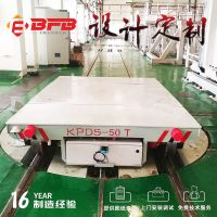 百分百电动平移工具车 10吨重型移动轮轨道电动过跨平板车 可定制方案