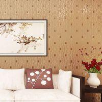 新中式复古回纹格子无纺布墙纸 餐厅茶楼酒店包厢客厅书房壁纸