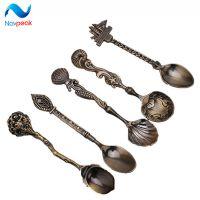 西式餐具 工艺礼品5支立体勺子套装 纯色创意咖啡勺不锈钢汤饭勺