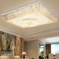雷.士现代简约LED吸顶灯大气长方形客厅灯创意水晶灯餐厅卧室灯具