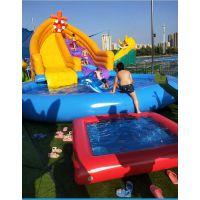 儿童充气游泳池图片 儿童夏季用品充气大型游泳池定做 充气戏水池适合多大孩子