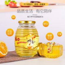 高档玻璃瓶 高端蜂蜜包装玻璃瓶厂家
