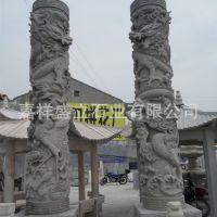 厂家加工石材盘龙柱 石雕华表龙柱 大理石中华柱 文化柱