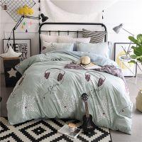 特价水洗棉四件套床上用品无印风格良品家纺床单被套批发一件代发