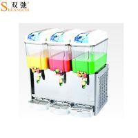 厂家批发广州双驰饮料加工设备商用制冷制热三缸果汁机餐饮设备