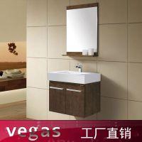 广东浴室柜厂家定做卫生间洗手盆组合柜 出口挂墙式洗漱台镜柜