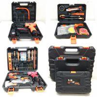 12V充电冲电钻锂电五金工具箱车载电工维修套装组合螺丝刀家庭装