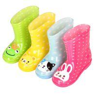 -儿童雨鞋男童女童宝宝水靴新款厂家宝宝雨靴卡通批发